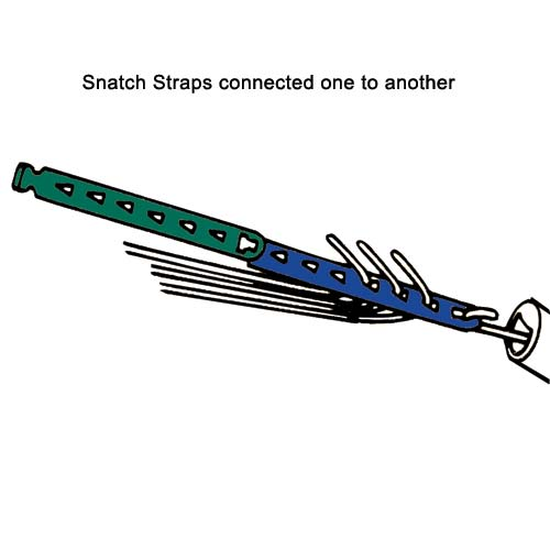 drawing of rack-a-tiers snatch straps wire puller straps in use icon