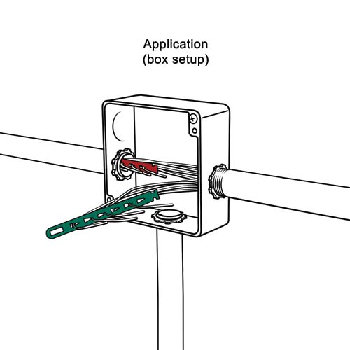 drawing of rack-a-tiers snatch straps wire puller strap application icon
