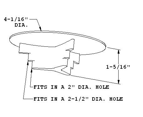 diagram for raised desk grommet