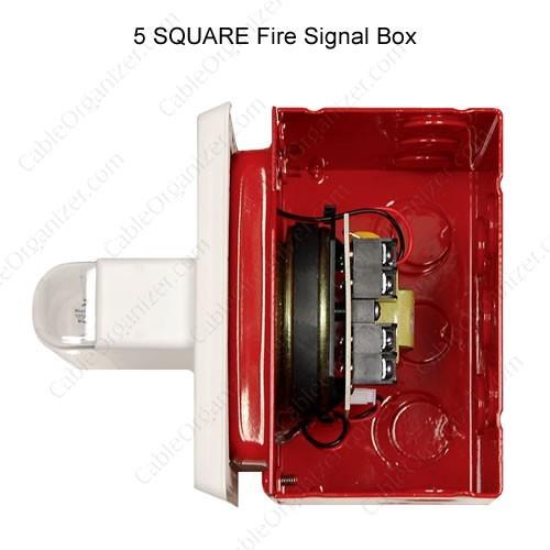 5 square red signal box - icon
