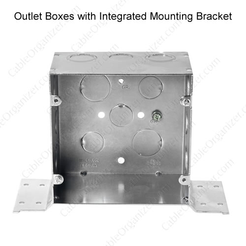 outlet box with bracket - icon
