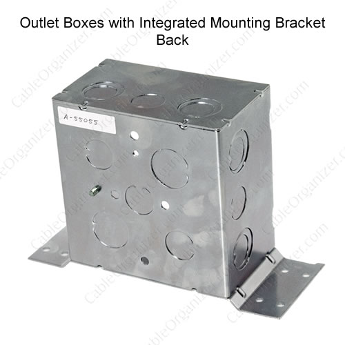 outlet box with bracket back side - icon