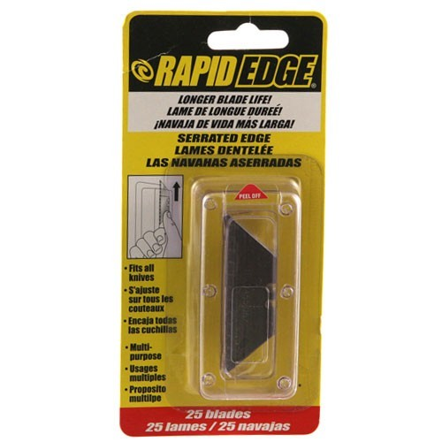 rapid tools rapid edge quick change utility knife replacement blades in package icon