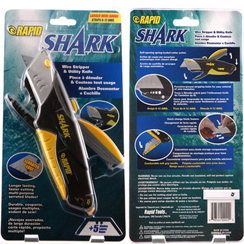 front and back of rapid tools rapid shark model 00022 utility knife icon