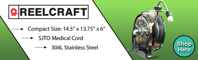 Reelcraft Medical Grade Stainless Steel Reel