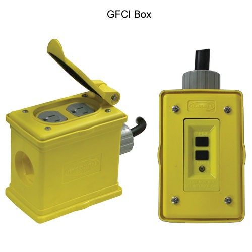close up of reelcraft outlet box reel gfci boxes icon