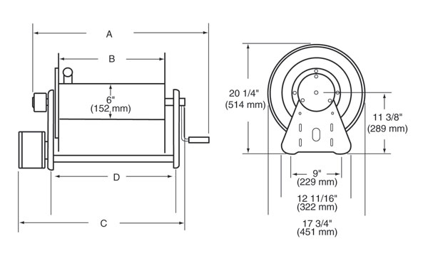 diagram of heavy duty reel