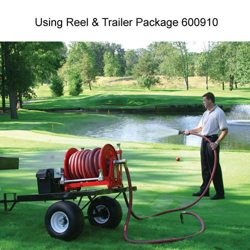 reelcraft 37000 series reel and trailer package in use for landscaping icon