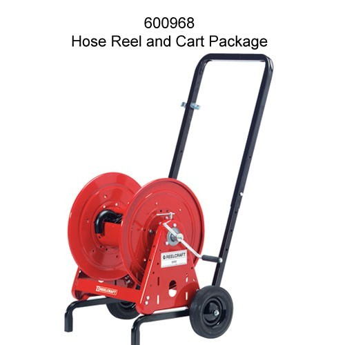 reelcraft 37000 series hose reel and cart package with hose icon