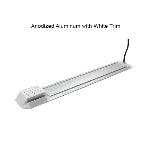Rialto aluminum finsih with white trim