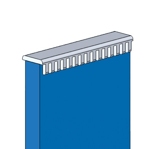 drawing of richco molded grommet strip in use - icon