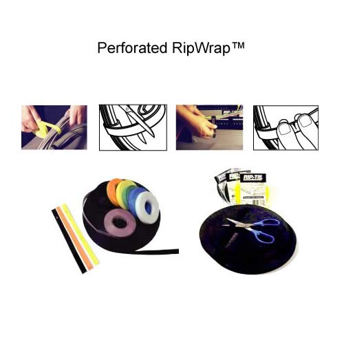 ripwrap hook and loop wrap rolls in various colors and applications - icon