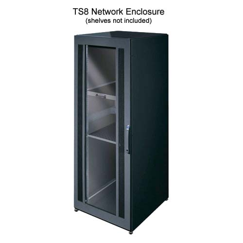 front view of Rittal Xpress TS8 Network Enclosure in black - icon
