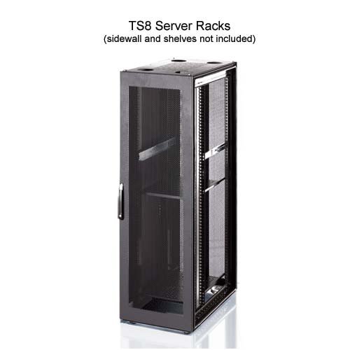 front view of Rittal Xpress TS8 Server Rack in black - icon