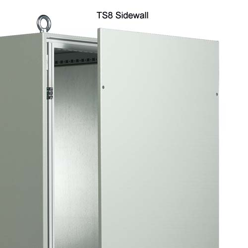 Rittal Xpress TS8 Server Rack anad network enclosure side wall in white - icon