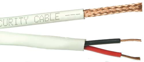 Fast Shipping 1000ft RG-59//U Siamese cable Power and video White Color