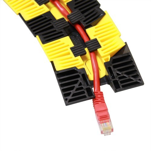 bottom channel view of sidewinder cable protection system with cable inside - icon