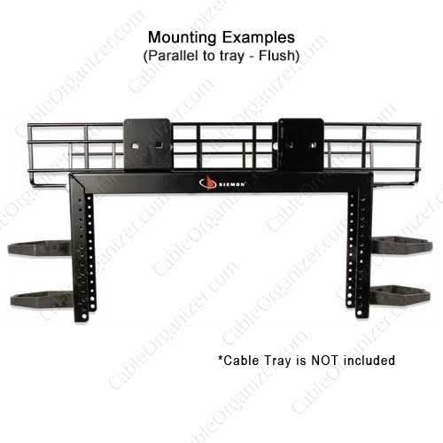 Siemon Cable Tray Network Rack parallel to tray mounting - icon