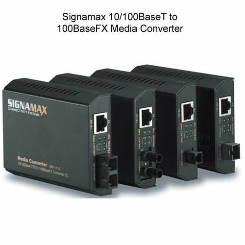 Signamax 10 100BaseT to 100BaseFX Media Converters with various adapters - icon