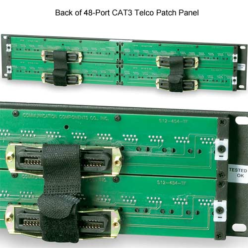 back of 48-port patch panel - icon