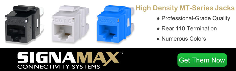 Signamax High-Density Keystone Jacks