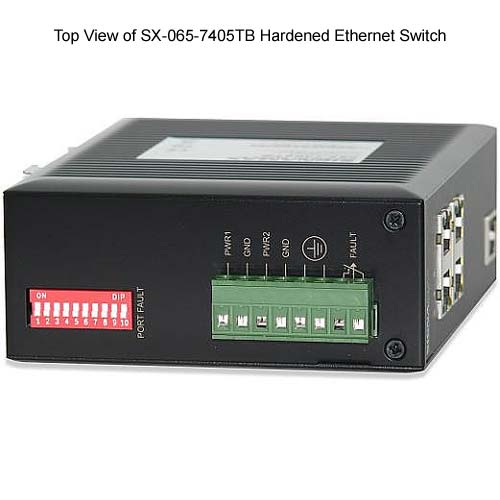 top view of Signamax Hardened Ethernet Switch - icon