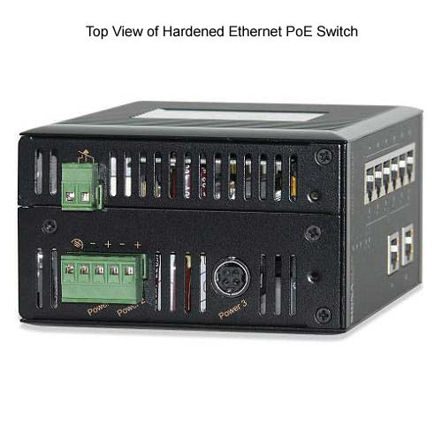 top view of signamax hardened ethernet poe switch - icon
