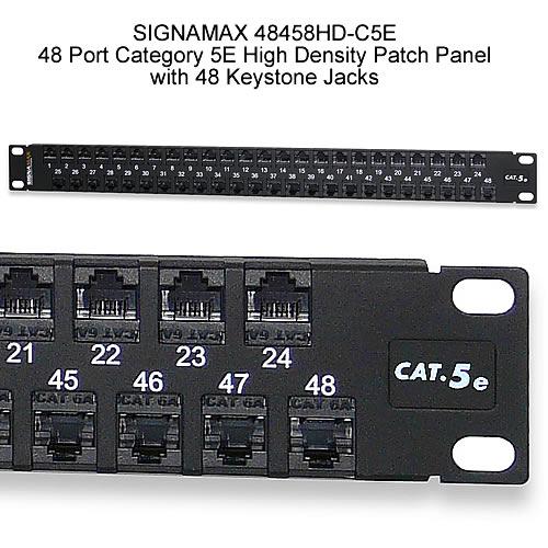 Signamax High-Density 48 Port Unshielded Patch Panels