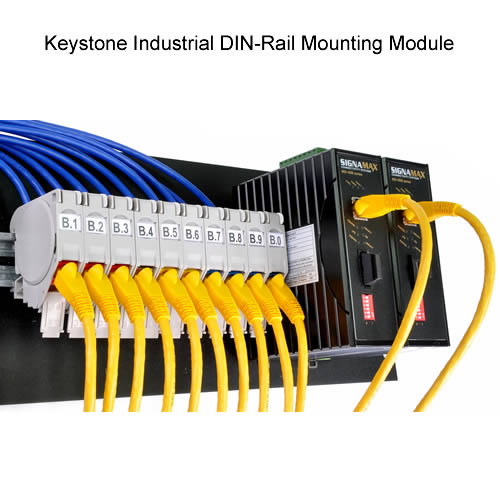 Keystone DIN-Rail Mounting Module - icon