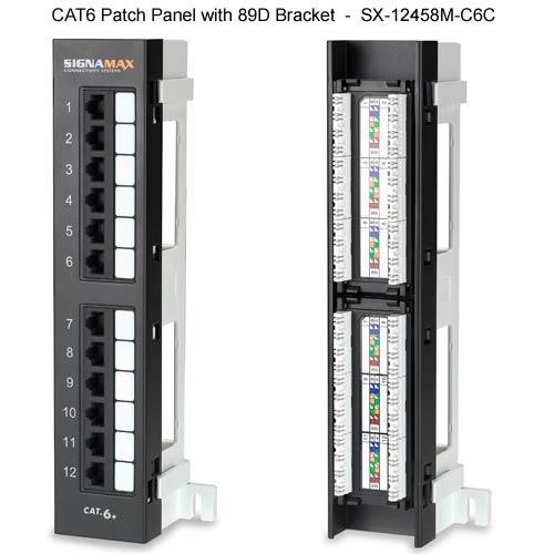 signamax cat6 mini patch panel with 89D bracket - icon