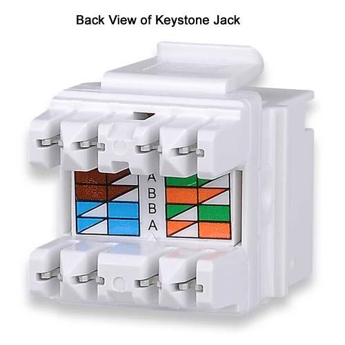Signamax MT Series Keystone Jack back view - icon