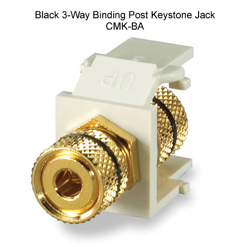 2x RCA Keystone Jack Modular RCA w// Blue Center White