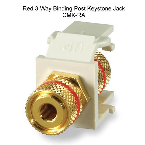 3 way binding post keystone jack - icon