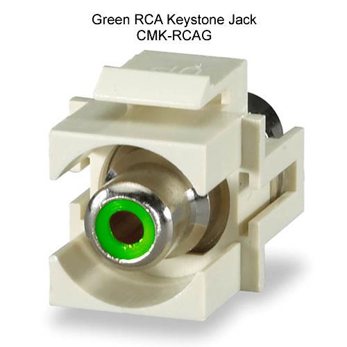 Green RCA keystone jack - icon