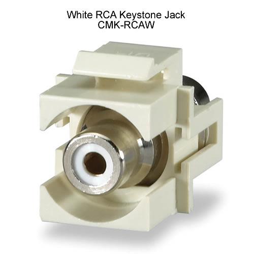 White RCA keystone jack - icon