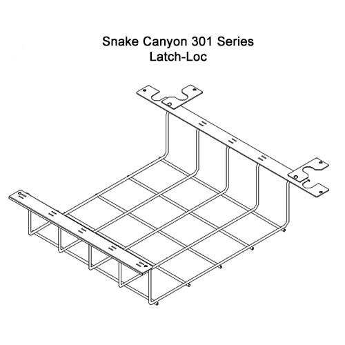 drawing of SnakeTray Snake Canyon Cable Tray latch-loc - icon