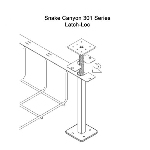 drawing of SnakeTray Snake Canyon Cable Tray latch-loc application - icon