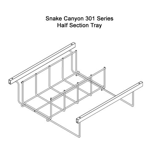 drawing of SnakeTray Snake Canyon Cable Tray half section tray - icon