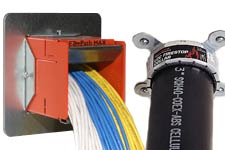 STI fire stop devices, collars