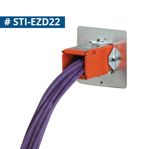 STI EZ Path Fire Rated Cableway series 22 installed in wall