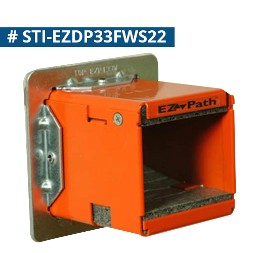 STI Firestop E-Z Path Fire Rated Cableway series 33 installed in wall