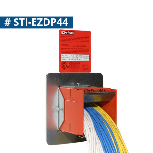 STI Firestop EZ Path Fire Rated Cableway series 44 wall installation