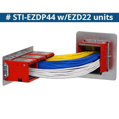 STI Firestop EZ Path Fire Rated series 44 wall application