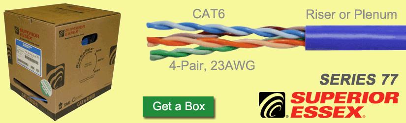 Superior Essex Series 77 CAT6 cable