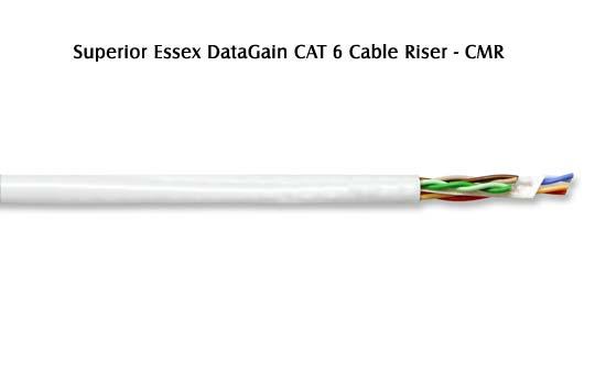 close up of Superior Essex DataGain Cat6 Cable riser cmr - icon