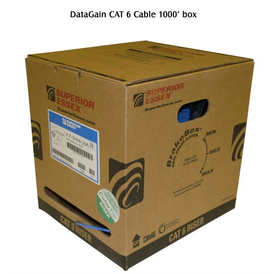 Superior Essex DataGain Cat6 Cable in 1000 foot box - icon