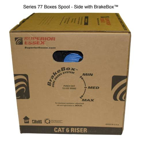 Superior Essex Series 77 CAT6 Cable 1000 foot spool box - icon
