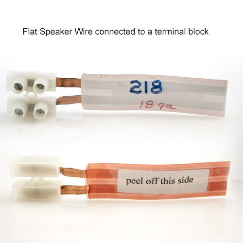 Taperwire Flat Speaker Wire Connected Front and Back