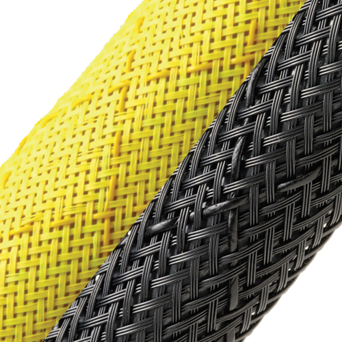 close up of yellow and black Non-Skid Slip Resistant Expandable Braided Sleeving - icon