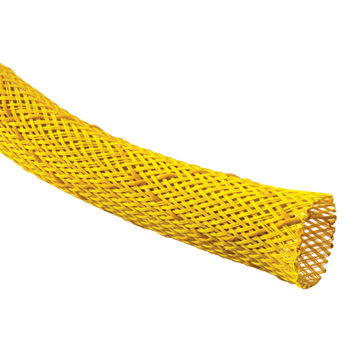 close up of yellow Non-Skid Slip Resistant Expandable Braided Sleeving - icon